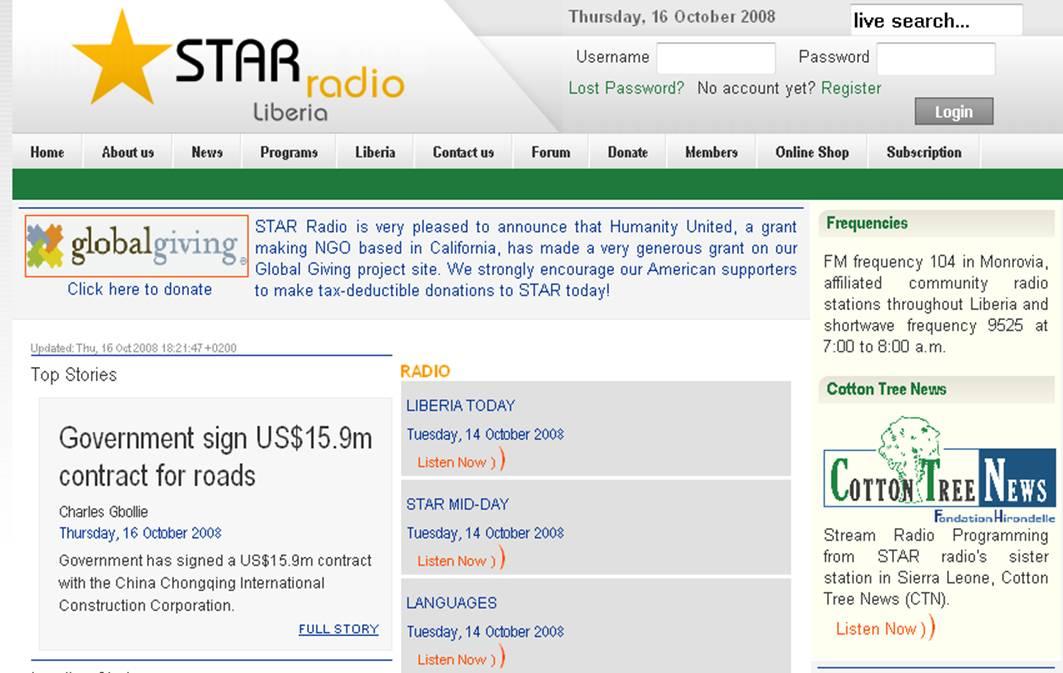 Star Radio Monrovia Liberia