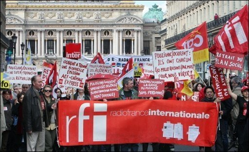 RFI en greve