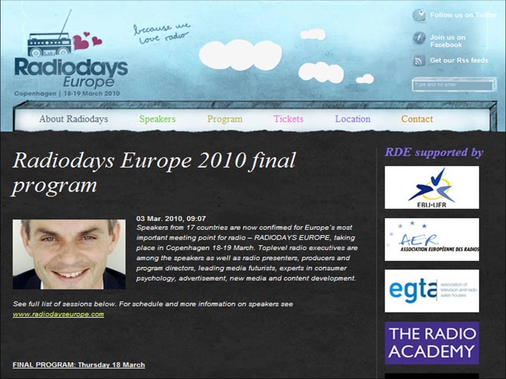 Radiodays Europe 2010