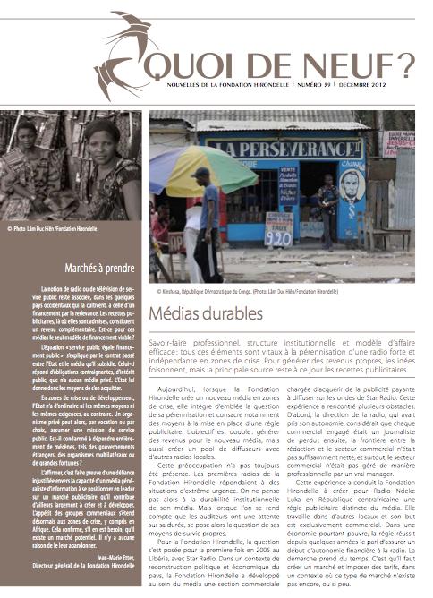 Les ONG accordent trop d'aide aux journalistes et pas assez au management et au marketing des médias communautaires. dans Developpement capture-decran-2013-01-03-a-23.14.35