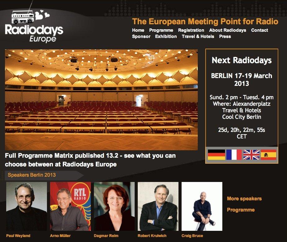 Radiodays Europe 2013 à Berlin, le rendez-vous européen des pros de la radio dans Conferences radiodays-europe-2013