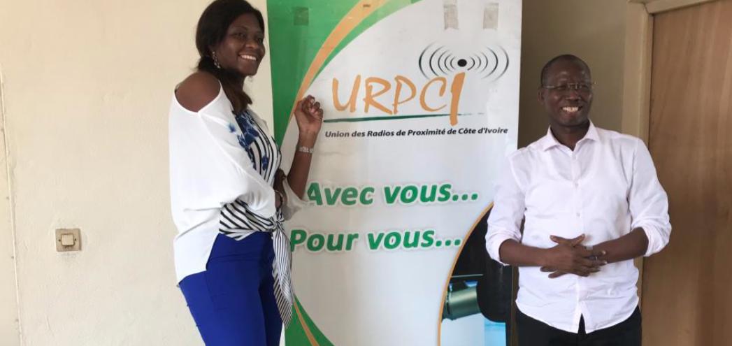 ddb686f18d7c9 Fatim CAMARA (DG de afriquactu.radio) et BAMBA Karamoko (Président de l