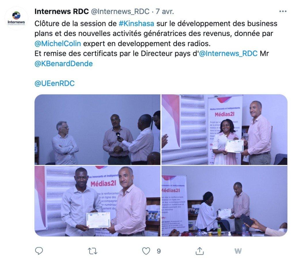 Tweet Internews 7